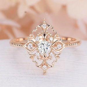 Princess Style Rose Gold Ring